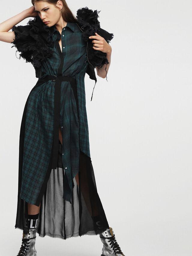 Diesel - D-BAGGY, Green/Black - Dresses - Image 6