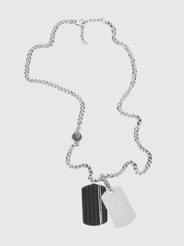 Diesel - NECKLACE DX1040, Silver - Necklaces - Image 1
