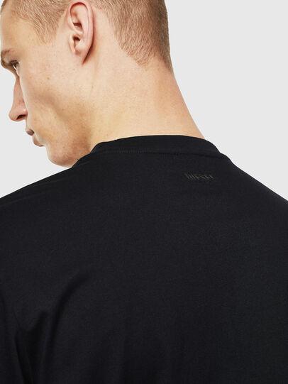 Diesel - T-JUST-LS-J2, Black/White - T-Shirts - Image 4