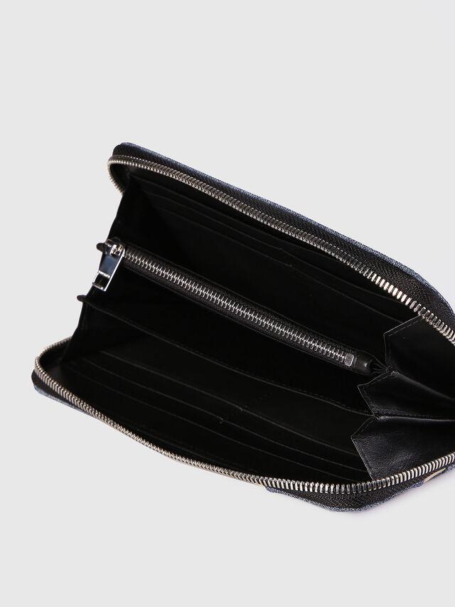 Diesel - 24 ZIP, Blue Jeans - Zip-Round Wallets - Image 4