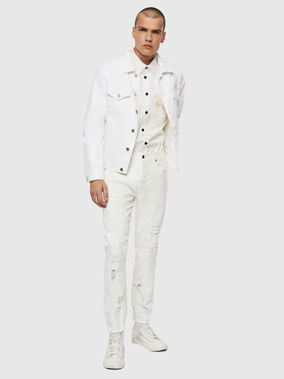 Diesel - NHILL, White - Denim Jackets - Image 6