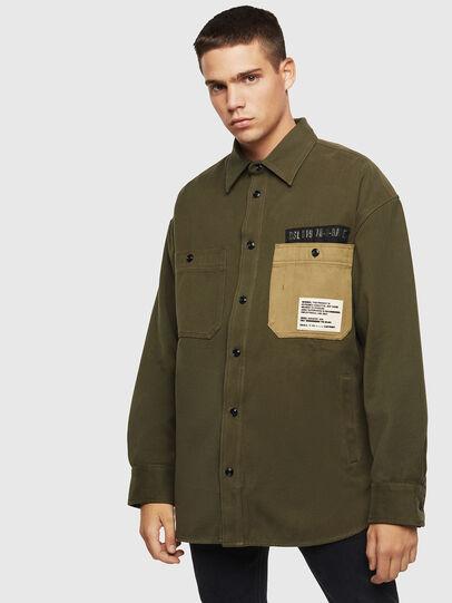 Diesel - S-LEBED, Dark Green - Shirts - Image 1