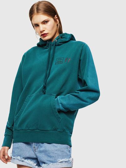Diesel - S-GIRK-HOOD-SUN, Dark Green - Sweaters - Image 2