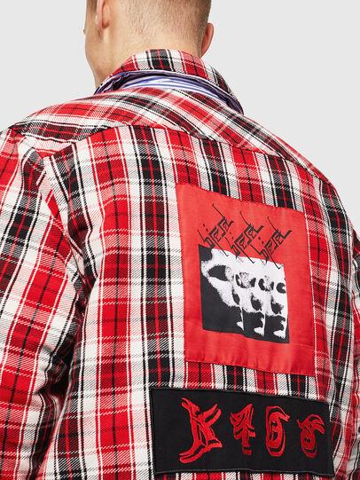 Diesel - S-JOHNS, Red/Black - Shirts - Image 7