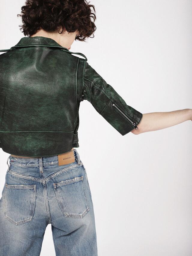 Diesel - L-JUPOR, Dark Green - Leather jackets - Image 3