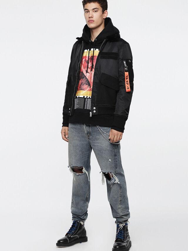 Diesel - W-SLOTKIN, Black - Winter Jackets - Image 8