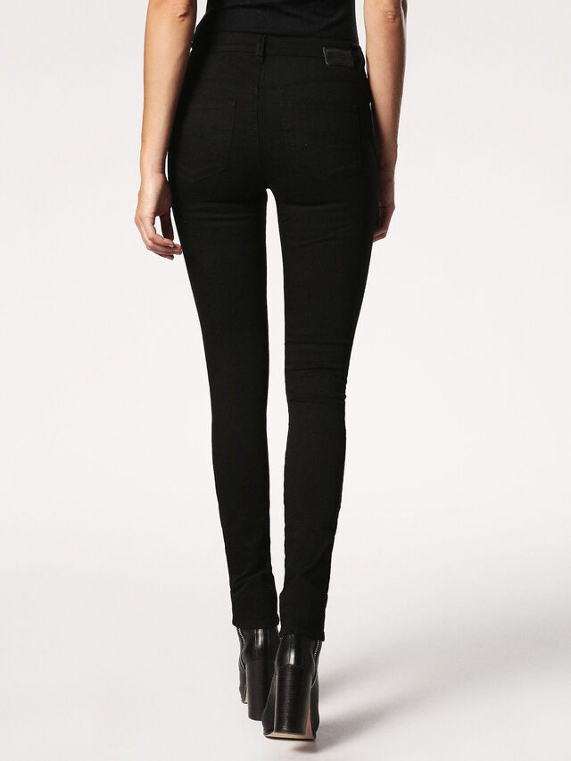SKINZEE-HIGH 0813E, Black Jeans