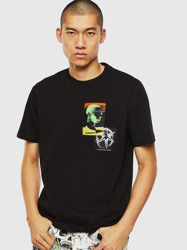 T-JUST-SLITS-J18, Black - T-Shirts