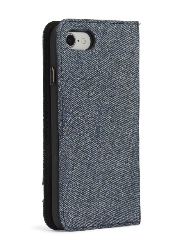 Diesel - DENIM IPHONE 8/7 FOLIO, Blue Jeans - Flip covers - Image 6