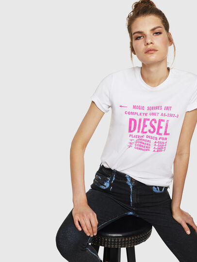 Diesel - T-SILY-ZF, White - T-Shirts - Image 4