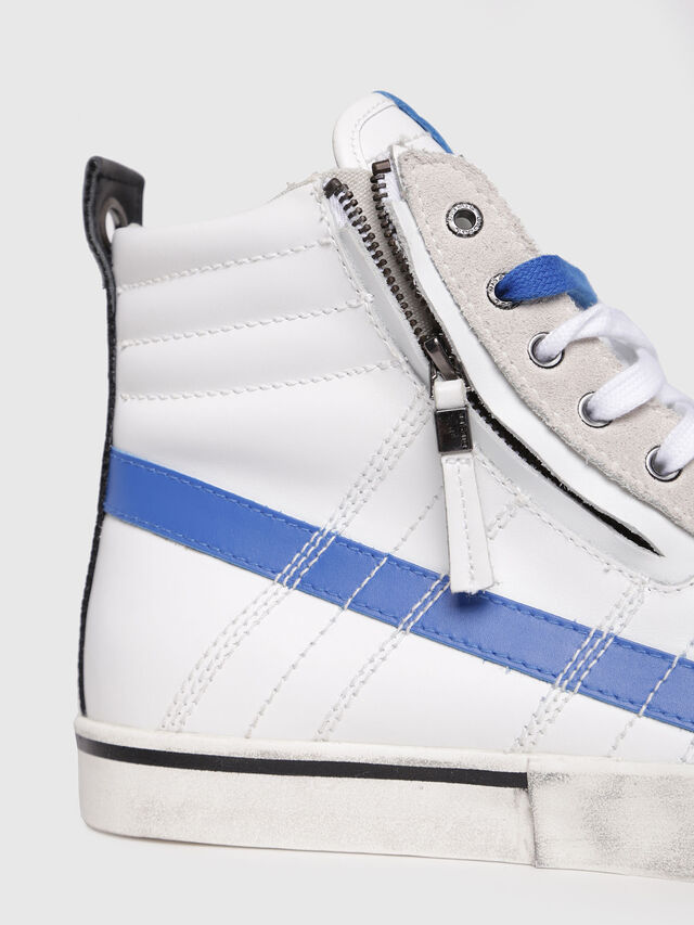 Diesel - D-VELOWS MID LACE, White/Blue - Sneakers - Image 4