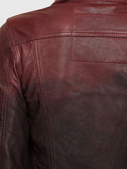 Diesel - L-SHAE, Dark Violet - Leather jackets - Image 5