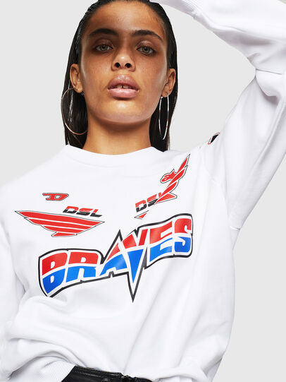 Diesel - ASTARS-F-GIR-A-FL, White - Sweaters - Image 3