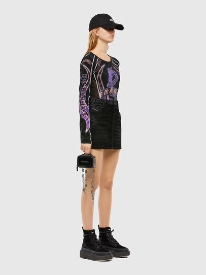 Diesel - DE-FREESIA-SP, Black - Skirts - Image 7