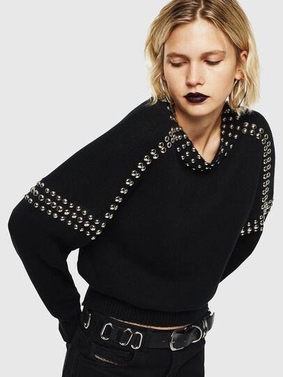 Diesel - M-KRIPX, Black - Knitwear - Image 1