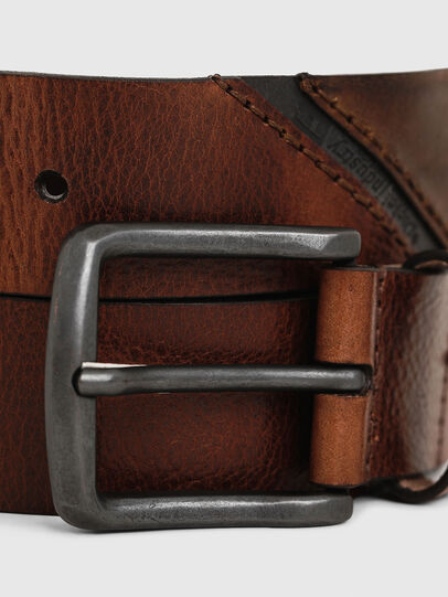 Diesel - B-LINE, Brown Leather - Belts - Image 2