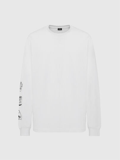 Diesel - T-JUST-LS-X90, White - T-Shirts - Image 1