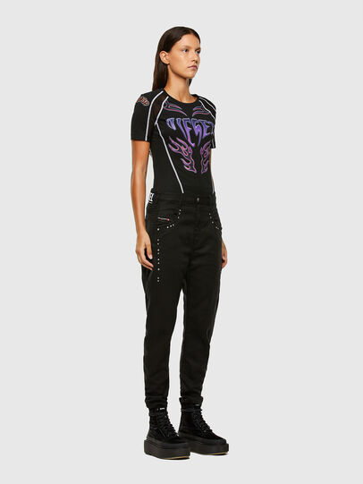 Diesel - Fayza JoggJeans 069NC, Black/Dark grey - Jeans - Image 6