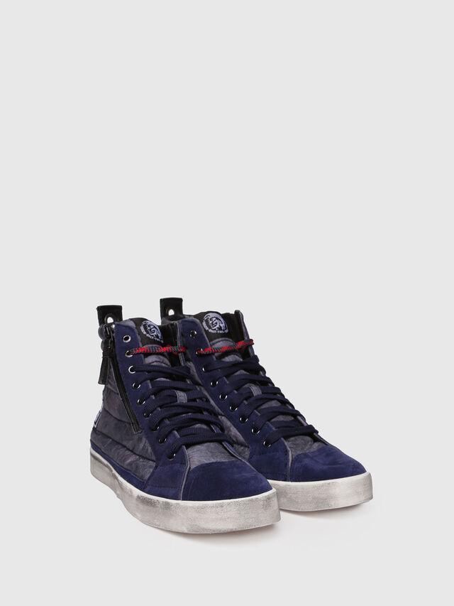 Diesel - D-VELOWS MID PATCH, Dark Blue - Sneakers - Image 3