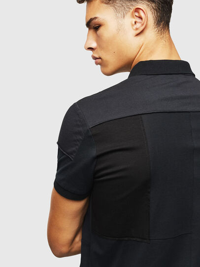 Diesel - T-POLPATCH, Black - Polos - Image 3