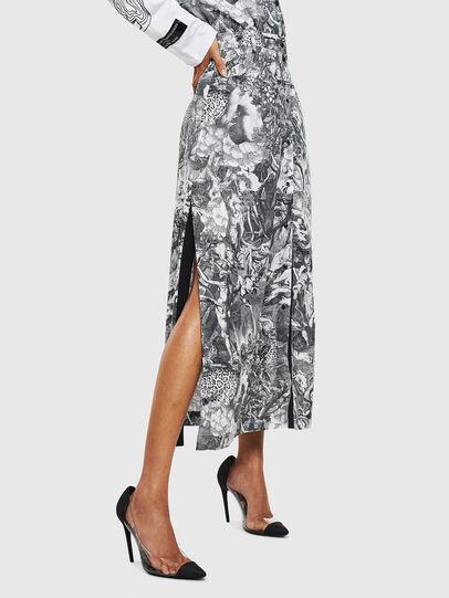 Diesel - O-MOYA-B, Black/White - Skirts - Image 4