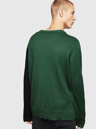 Diesel - K-HALF, Green/Black - Knitwear - Image 2
