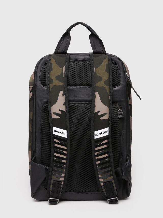 Diesel - F-SUBCAMOU BACK, Green Camouflage - Backpacks - Image 2