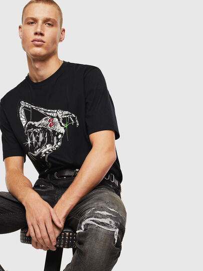 Diesel - T-JUST-J15, Black - T-Shirts - Image 4