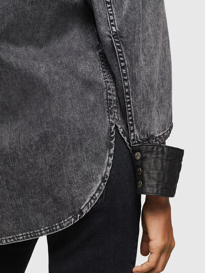 Diesel - DE-COLLY, Black/Dark grey - Denim Shirts - Image 5