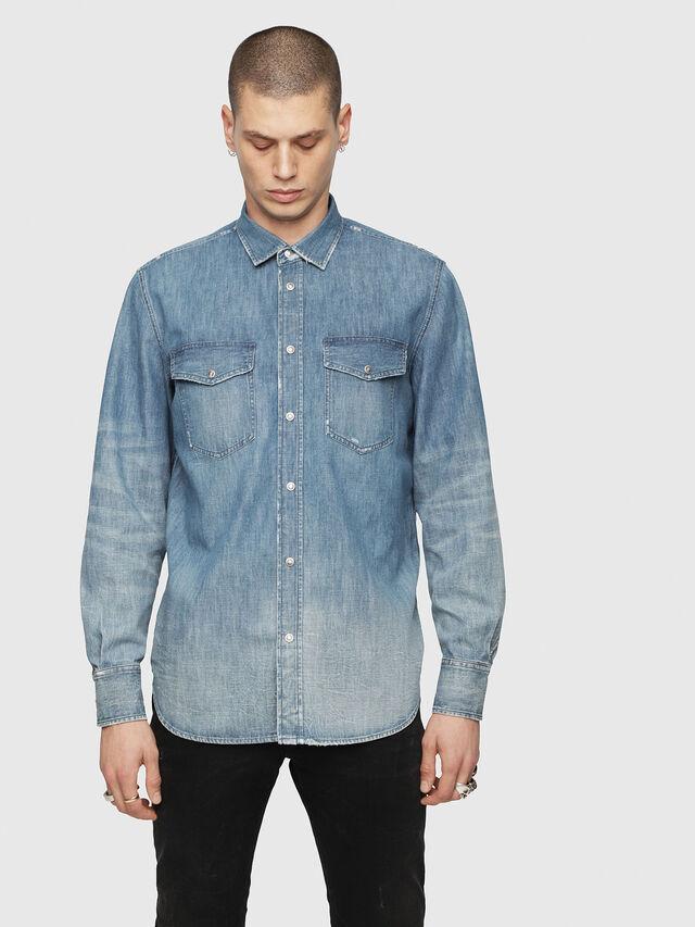 Diesel - D-ROOKE-Y, Blue Jeans - Denim Shirts - Image 1