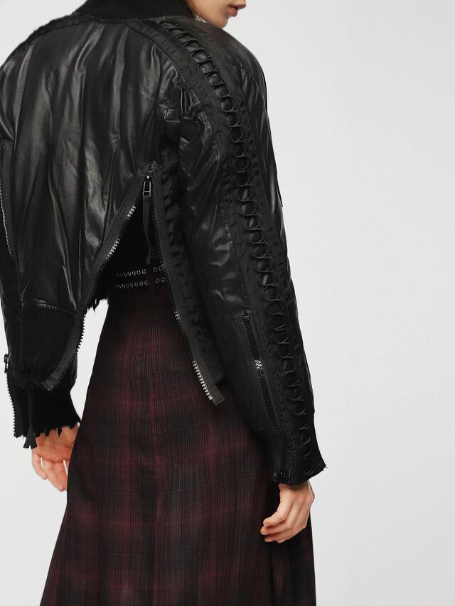 Diesel - L-WICA, Black - Leather jackets - Image 2