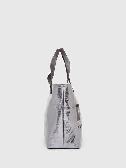 Diesel - F-BOLD SHOPPER III, Silver - Shopping and Shoulder Bags - Image 3