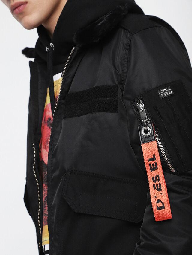 Diesel - W-SLOTKIN, Black - Winter Jackets - Image 3