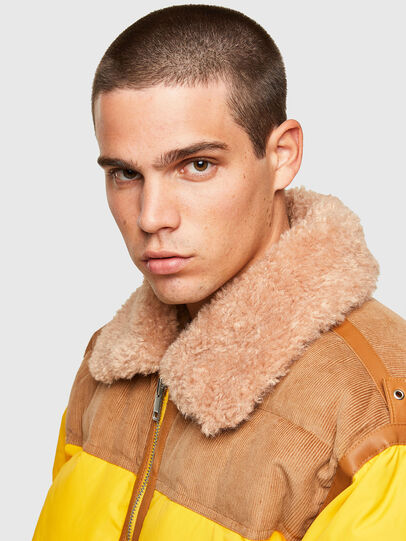 Diesel - W-EVAN-A, Yellow - Winter Jackets - Image 3