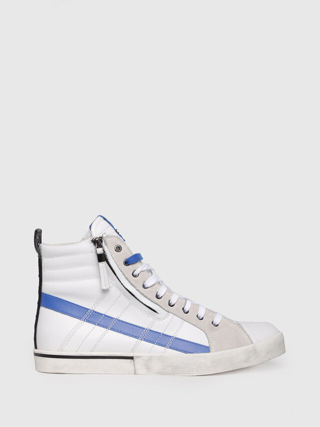 Diesel - D-VELOWS MID LACE, White/Blue - Sneakers - Image 1