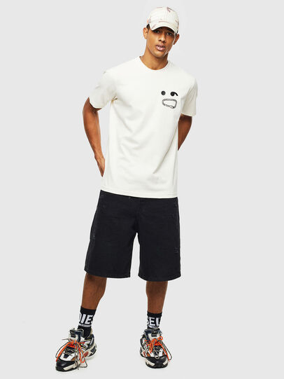Diesel - T-JUST-T14, White - T-Shirts - Image 4