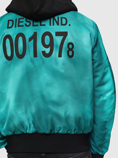 Diesel - J-FOREST, Water Green - Jackets - Image 5