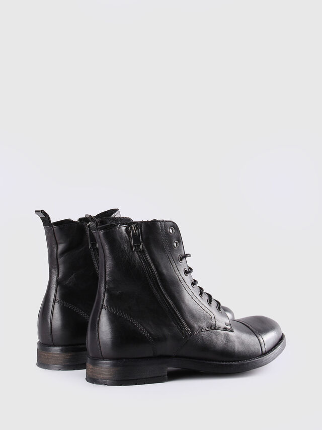 Diesel D-KALLIEN, Black Leather - Boots - Image 3