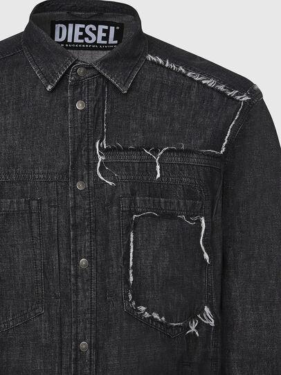 Diesel - D-NESKY, Black - Denim Shirts - Image 3