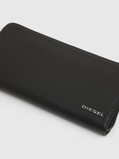 Diesel - 24 ZIP, Dark Blue - Zip-Round Wallets - Image 4