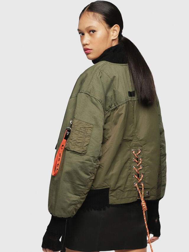 Diesel - W-ZALIA, Military Green - Winter Jackets - Image 2