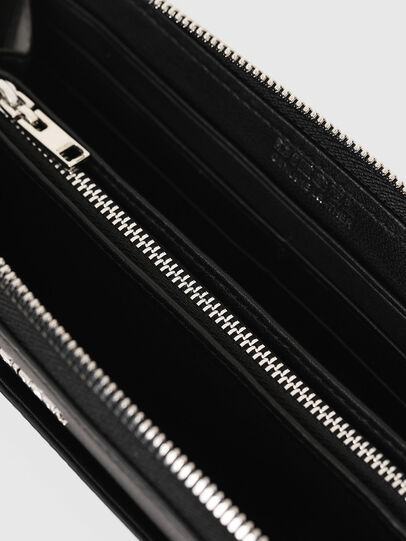 Diesel - GRANATO LC, Black - Zip-Round Wallets - Image 3