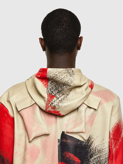 Diesel - J-GRANT-CMF, White/Red - Leather jackets - Image 4