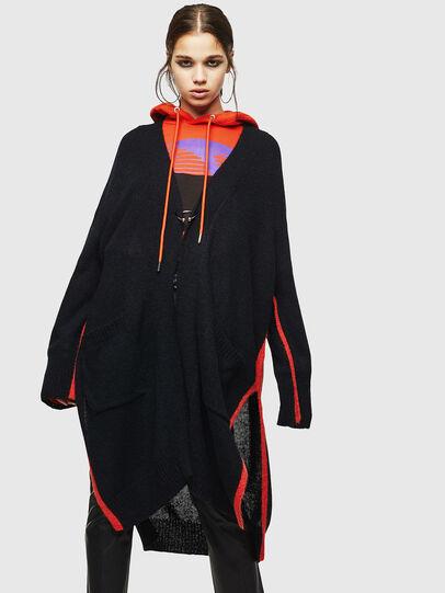 Diesel - M-SURI, Black/Red - Knitwear - Image 1