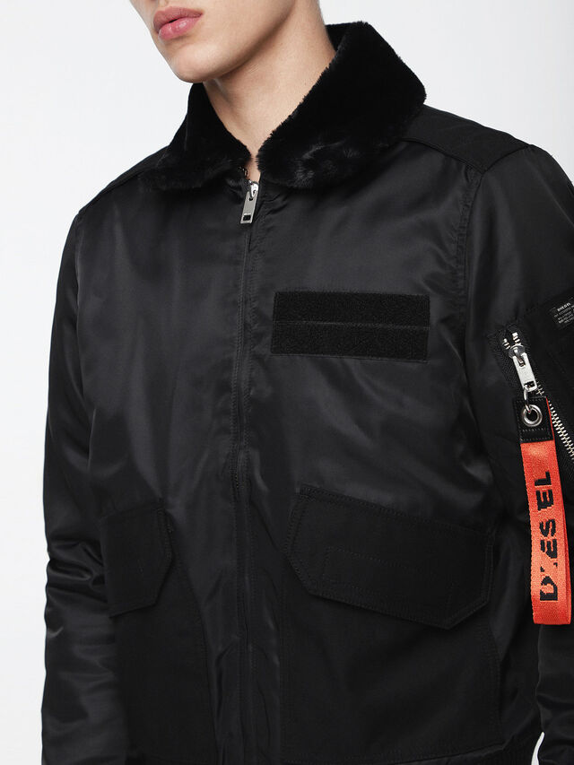 Diesel - W-SLOTKIN, Black - Winter Jackets - Image 6