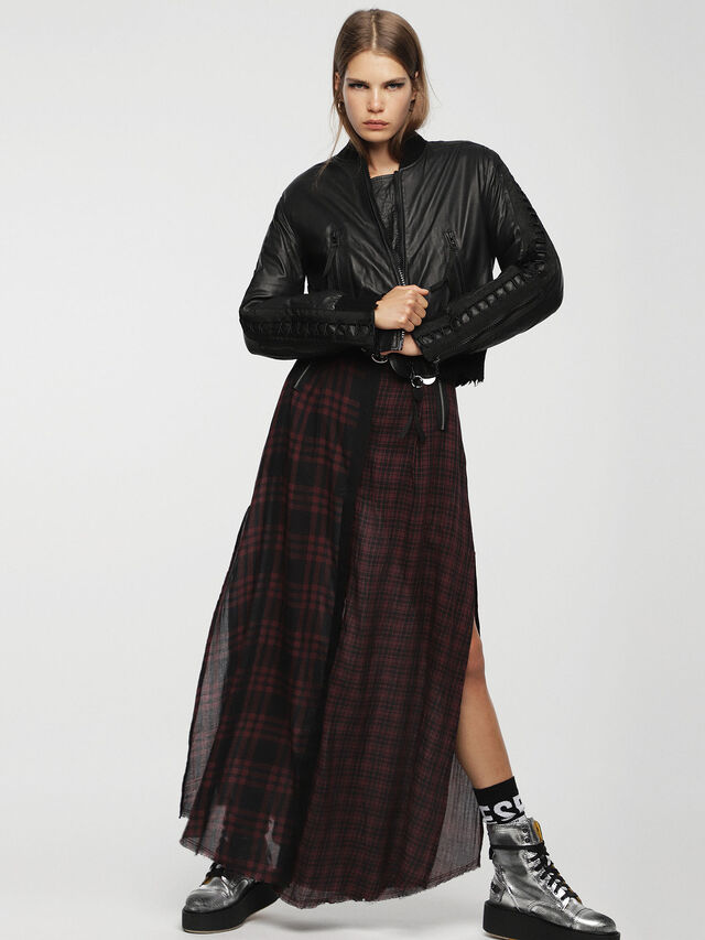 Diesel - L-WICA, Black - Leather jackets - Image 4