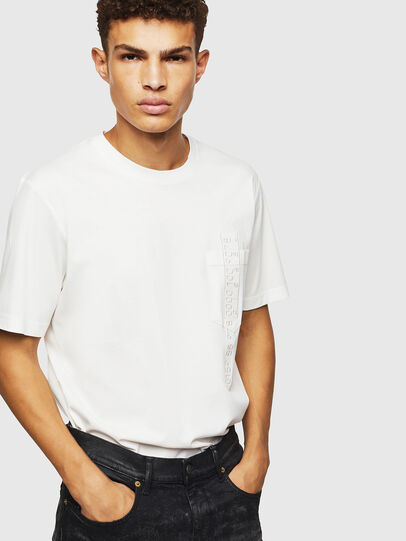 Diesel - T-JUST-POCKET-J1, White - T-Shirts - Image 4