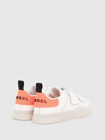 Diesel - S-CLEVER LOW STRAP W, White/Pink - Sneakers - Image 3