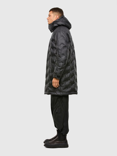 Diesel - W-RUSSELL-LONG-THERM, Black - Winter Jackets - Image 7