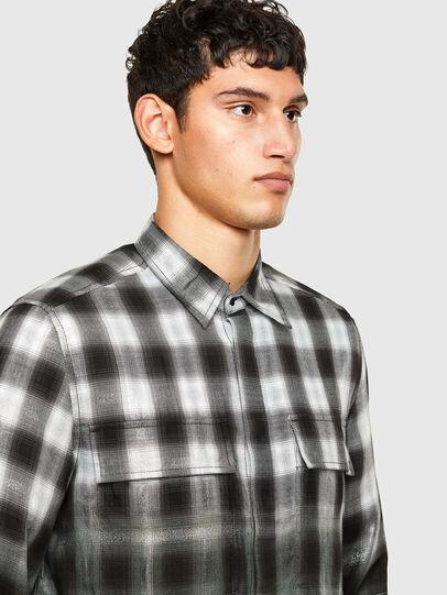 Diesel - S-KEITH, Black/White - Shirts - Image 3